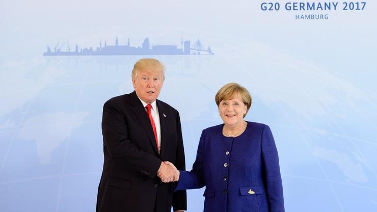 """Merkel i Trump rozmawiali o """"punktach zapalnych"""""""