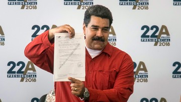 Maduro oficjalnie kandydatem w wyborach w Wenezueli. Opozycja oskarża go o autorytarne zapędy