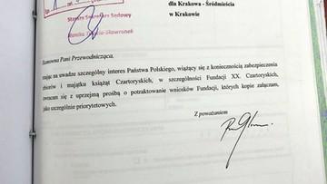 Myrcha: Gliński osobiście interweniował ws. przyspieszenia zmian w statucie Fundacji Czartoryskich