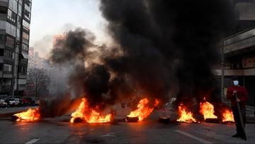 Protestujący blokują drogi do Bejrutu. Szpitale odcięte od dostaw tlenu