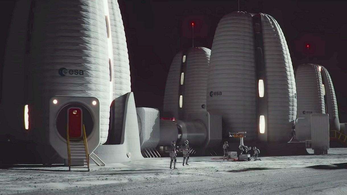 Zobacz kolonię na Księżycu oczami speców z Europejskiej Agencji Kosmicznej [WIDEO]