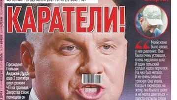 Skandaliczna okładka białoruskiej gazety. Rzecznik prezydenta komentuje
