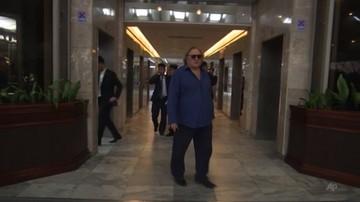 Gerard Depardieu odwiedził Pjongjang w związku z 70. rocznicą utworzenia państwa socjalistycznego