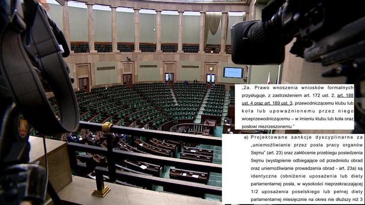 """Ograniczenia dla posłów i wysokie kary. """"Kuchciński przygotowuje zmianę Regulaminu Sejmu"""""""