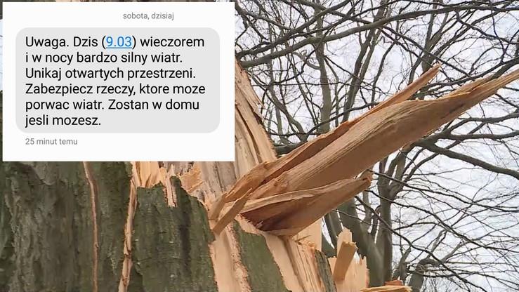 Miliony Polaków dostały SMS-y z ostrzeżeniem Rządowego Centrum Bezpieczeństwa o silnym wietrze