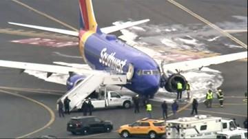 Awaryjne lądowanie samolotu w Filadelfii. Wybuchł silnik. Przez dziurę w poszyciu wyssało pasażerkę
