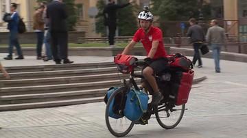 Z Polski do Moskwy na rowerze. Kibic reprezentacji przejechał ponad 2 tys. kilometrów