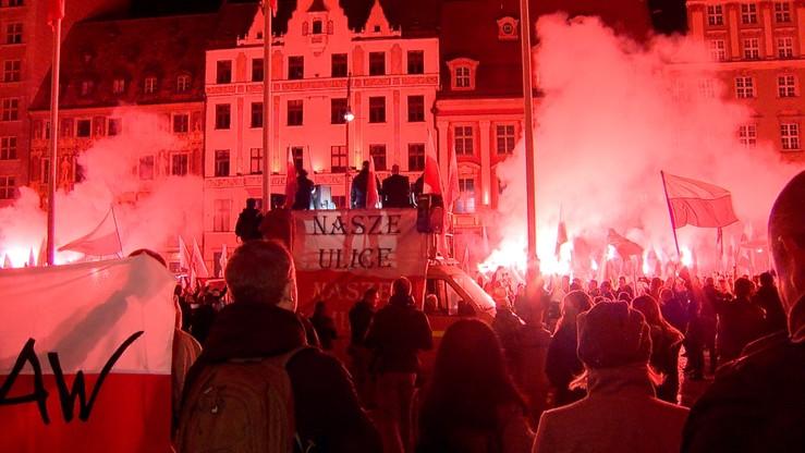 Zarzuty po marszu narodowców we Wrocławiu. Drugie postępowanie dotyczy Jacka M.