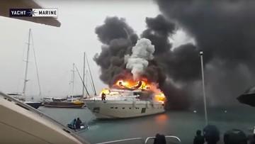 W tureckim porcie spłonął luksusowy jacht rosyjskiego milionera