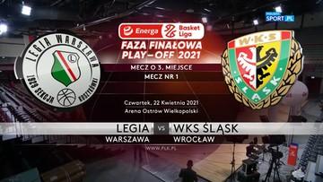 Legia Warszawa - Śląsk Wrocław 84:72. Skrót meczu