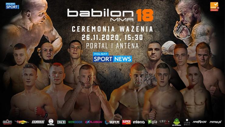 Ważenie przed galą Babilon MMA 18. Transmisja w Polsacie Sport News i na Polsatsport.pl