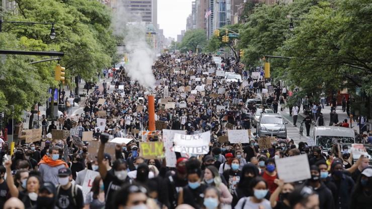 Protesty w Nowym Jorku. Zamknięte ulice na Manhattanie
