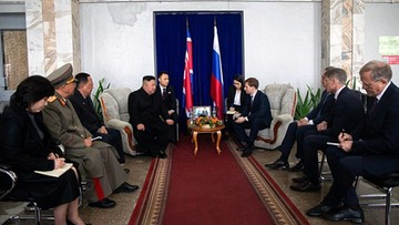Kim Dzong Un przybył do Władywostoku na rozmowy z Putinem