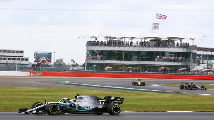 GP Wielkiej Brytanii: Bottas najszybszy na drugim treningu, Kubica przed Russellem