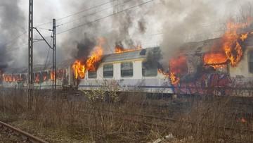 Pożar wagonów PKP Intercity. Możliwe podpalenie