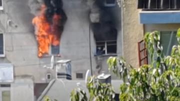 Łódź: mężczyzna wyskoczył z płonącego mieszkania