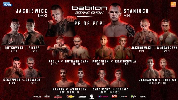 Babilon Boxing Show: Wyniki ważenia