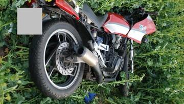 Motocyklista uderzył w drzewo i zginął. Nie miał prawa jazdy