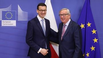 """""""Trudno by reakcja drugiej strony była jakaś zasadniczo odmienna od wcześniejszej"""". Morawiecki po spotkaniu z Junckerem"""