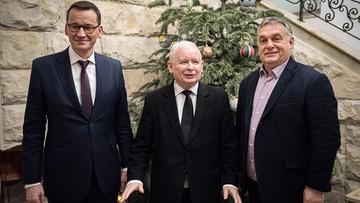 """Orban pozuje z Morawieckim i Kaczyńskim. """"Razem jesteśmy siłą"""""""