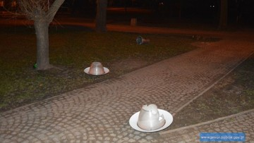 Zniszczyli parkowe lampy, a klosze założyli sobie na głowę. Grozi im do 5 lat więzienia