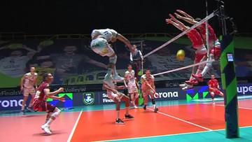 Efektowny blok siatkarzy ZAKSY w finale Ligi Mistrzów