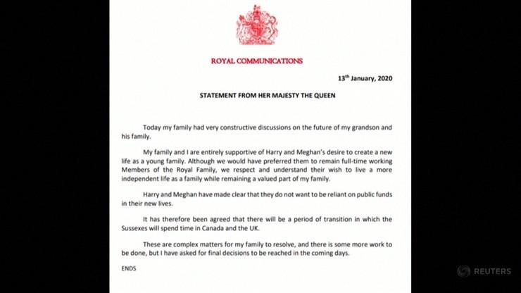 Oświadczenie królowej Elżbiety II
