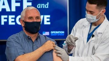 Wiceprezydent USA zaszczepił się przeciw koronawirusowi przed milionami telewidzów