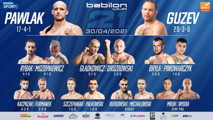Babilon MMA 21: Pełna karta walk - Polsat Sport