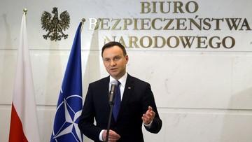 Prezydent: nie ma sygnałów, żebyśmy mieli w Polsce zagrożenie