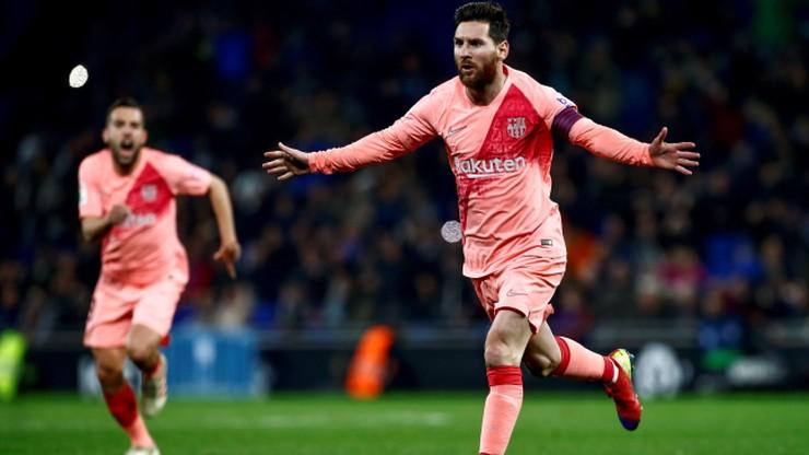 Espanyol rozgromiony przez Barcelonę w derbach. Geniusz Messiego
