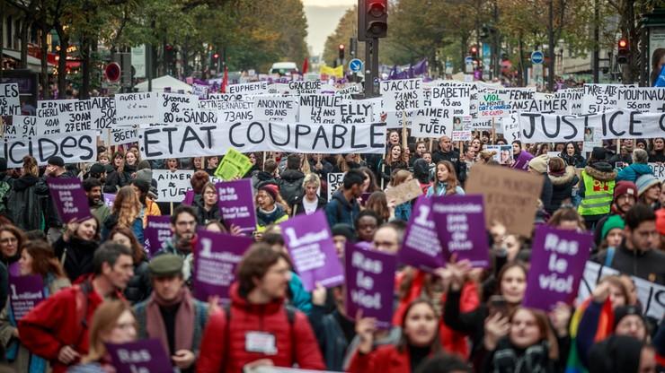Paryż: kilkadziesiąt tysięcy protestuje przeciw przemocy wobec kobiet