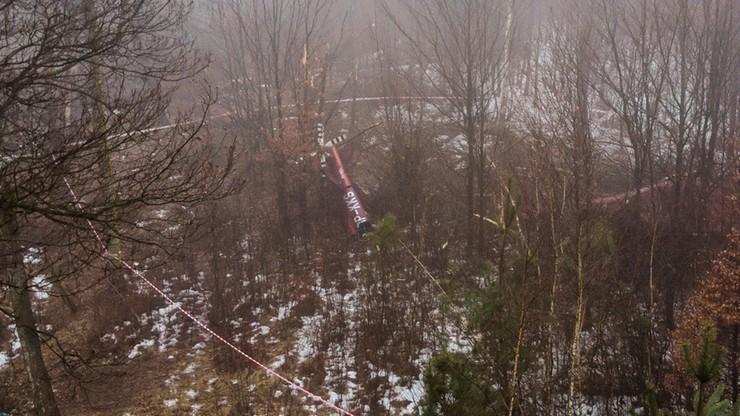 Katastrofa helikoptera pod Pszczyną. Nieoficjalnie: wśród ofiar znany przedsiębiorca