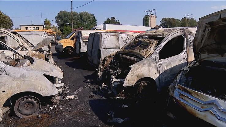 Bielsko-Biała: spłonęło dziewięć aut Poczty Polskiej [ZOBACZ WIDEO]