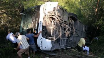 Wypadek autokaru z polskimi turystami w Turcji. Dwie osoby nadal w szpitalu