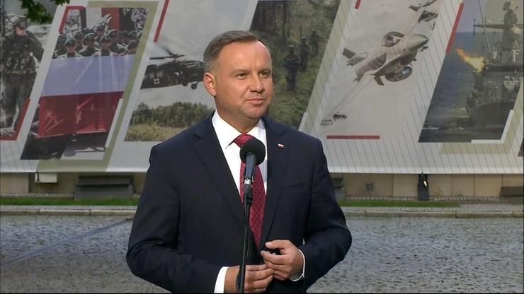 Uchwała ws. stanu wyjątkowego na granicy. Prezydent Andrzej Duda zabrał głos