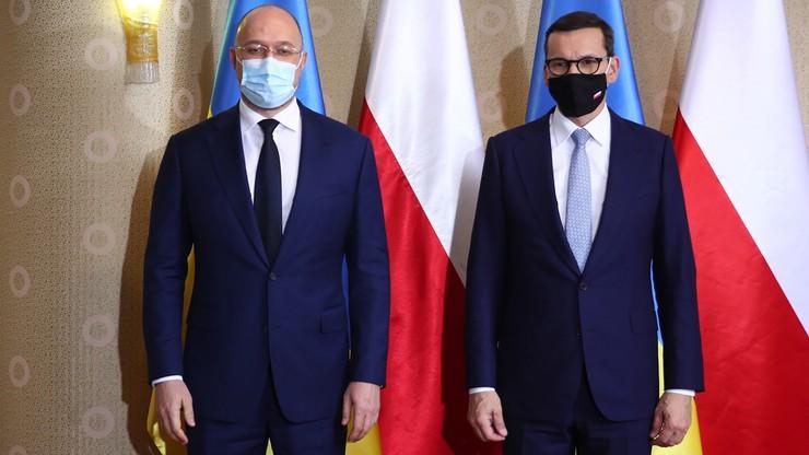 Morawiecki spotkał się z premierem Ukrainy. Mówił o zagrożeniach i prowokacjach ze strony Rosji