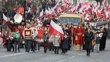 """Ulicami Białegostoku przeszedł ósmy """"Białostocki marsz niepodległości"""""""