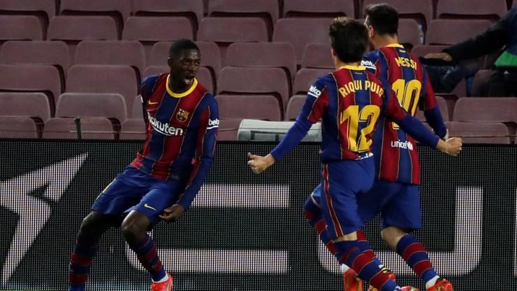 La Liga: FC Barcelona z trudem wygrała i jest tuż za liderem