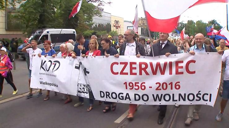 Poznań: manifestacja KOD w 60. rocznicę Czerwca'56