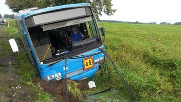 Wypadek autobusu wiozącego dzieci. Dziewięć osób poszkodowanych