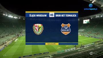 Śląsk Wrocław - Bruk-Bet Termalica Nieciecza 0:1. Skrót meczu