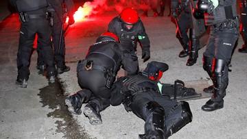 Starcia kibiców przed meczem Athletic Bilbao - Spartak Moskwa. Nie żyje policjant