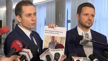 """Waszczykowski z Le Pen. Platforma pyta: """"czy istnieje plan wyprowadzenia Polski z UE"""""""