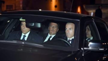 Premier Włoch Matteo Renzi podał się do dymisji