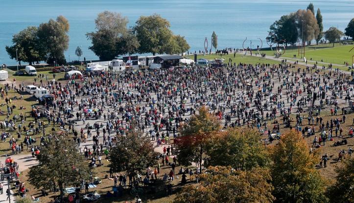 Koronawirus w Niemczech. Tysiące osób na proteście przeciw ograniczeniom