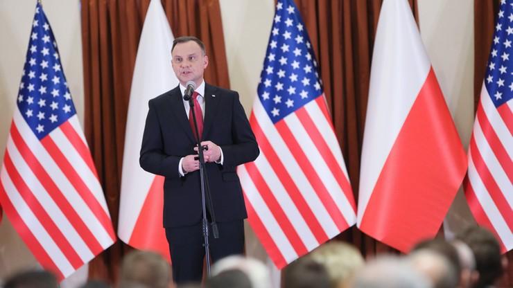 Prezydent Duda: z Trumpem bardzo konkretnie rozmawia się na temat polskich spraw