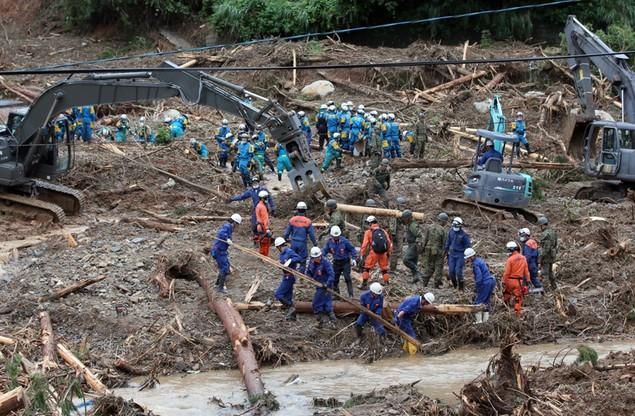 W prefekturze nadal trwają poszukiwania zaginionych