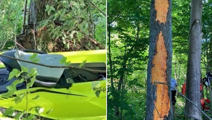 13-latek wyskoczył skuterem z jeziora i uderzył w drzewo. Jest w ciężkim stanie