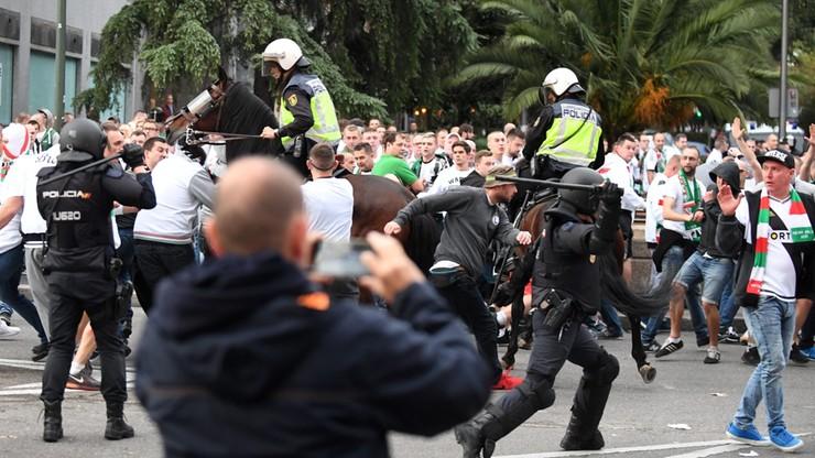 Kibice Legii starli się z policją przed stadionem Realu. Interweniowały konne jednostki